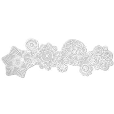 Heritage Lace® Blue Ribbon Crochet 50-Inch Table Runner in White