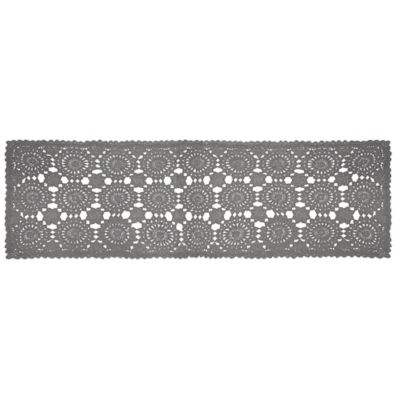 Heritage Lace® Blue Ribbon Crochet 54-Inch Table Runner in Grey