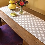 Heritage Lace® Polka Dot 72-Inch Table Runner in White