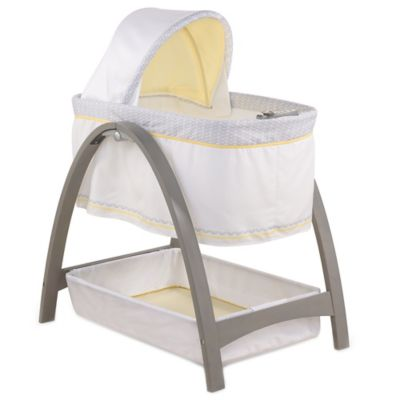 Summer Infant® Bentwood Bassinet with Motion in Grey