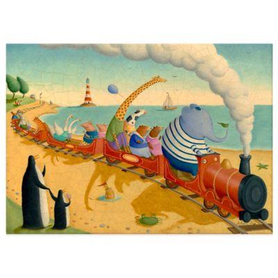Oopsy Daisy Seaside Train Ride Canvas Wall Art