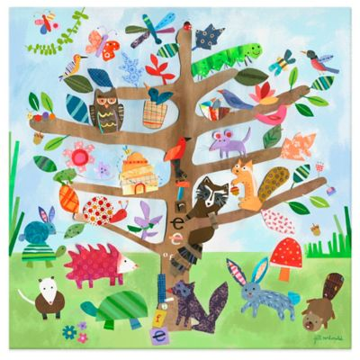 Oopsy Daisy Tree of Life Critters Canvas Wall Art