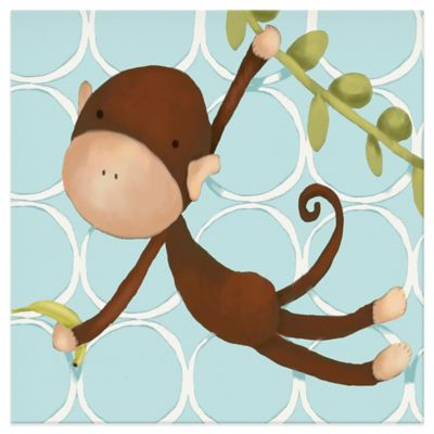Oopsy Daisy Hanging Monkey Canvas Wall Art