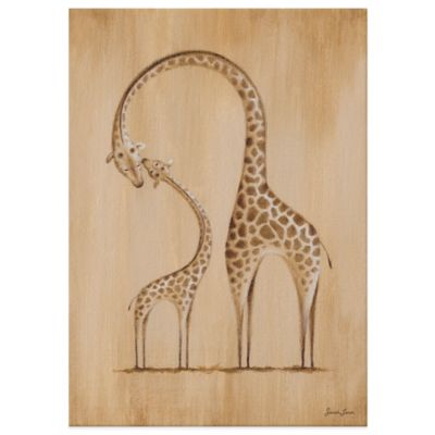 Oopsy Daisy Safari Kisses Giraffe Canvas Wall Art