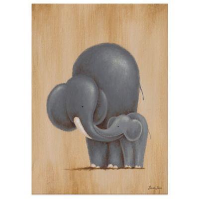 Oopsy Daisy Safari Kisses Elephant Canvas Wall Art