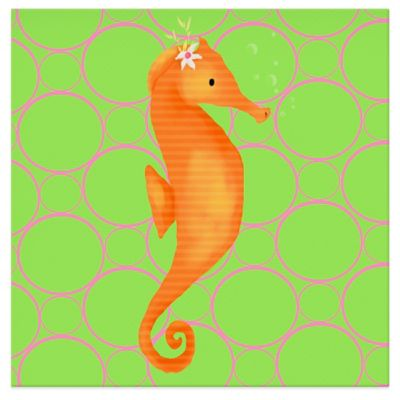 Oopsy Daisy Penelope the Seahorse Canvas Wall Art