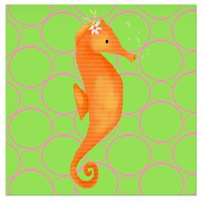 Seahorses Canvas Wall Art