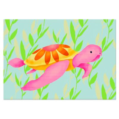 Oopsy Daisy Maggie the Sea Turtle Canvas Wall Art in Pink