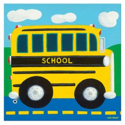 Oopsy Daisy School Bus Canvas Wall Art