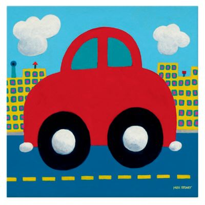 Oopsy Daisy Red Car Canvas Wall Art