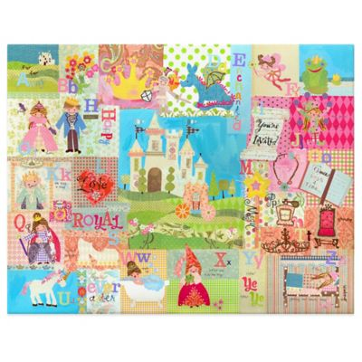 Oopsy Daisy Royal Alphabet Canvas Wall Art