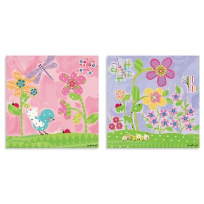 Oopsy Daisy Too Lovely Flowers 2-Piece Canvas Wall Art in Lavender/Pink