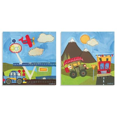 Oopsy Daisy Too Country and Mountain Transportation 2-Piece Canvas Wall Art