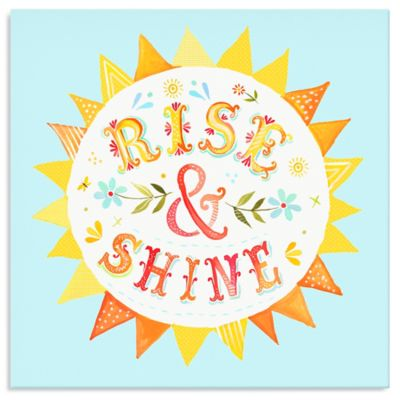 Oopsy Daisy Too Rise & Shine Canvas Wall Art
