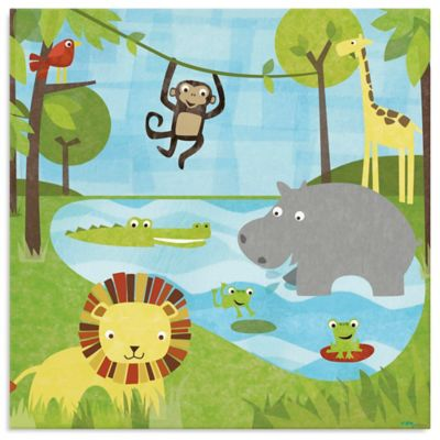 Oopsy Daisy Too Safari Canvas Wall Art