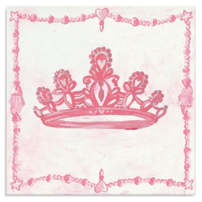 Oopsy Daisy Too Princess Crown Canvas Wall Art in Pink