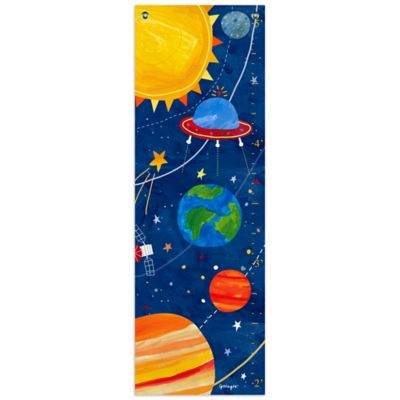 Oopsy Daisy Too Blast Off Growth Chart Canvas Wall Art