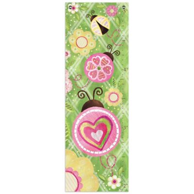 Oopsy Daisy Too Ladybug Growth Chart Canvas Wall Art