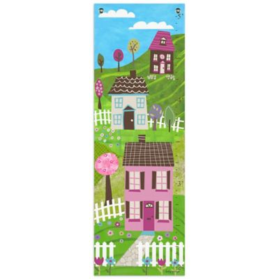 Oopsy Daisy Too Dollhouse Growth Chart Canvas Wall Art