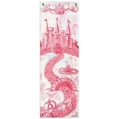Oopsy Daisy Too Princess Growth Chart Canvas Wall Art in Pink