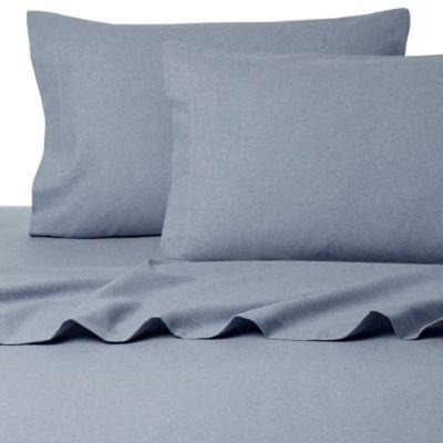 Blue Flannel Queen Sheet Set