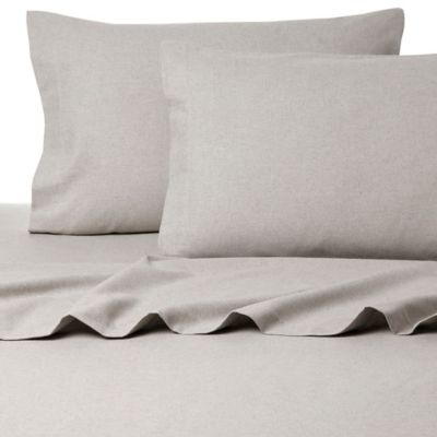 Belle Epoque La Rochelle Collection Sol Heathered Flannel Queen Sheet Set in Lilac