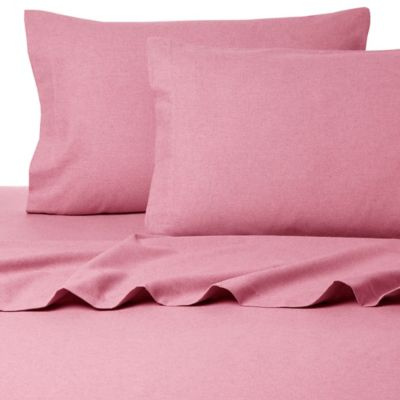 Belle Epoque La Rochelle Collection Sol Heathered Flannel King Sheet Set in Mauve