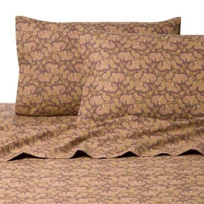 Belle Epoque La Rochelle Collection Pais Heathered Flannel California King Sheet Set in Brown