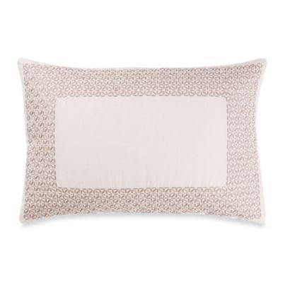 Vera Wang™ Basketweave Texture Embroidered Breakfast Throw Pillow
