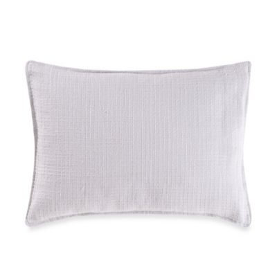 Vera Wang™ Chiffon Flower Waffle Weave Breakfast Throw Pillow in White
