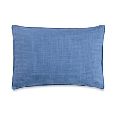 Vera Wang™ Chiffon Flower Waffle Weave Breakfast Throw Pillow in Blue