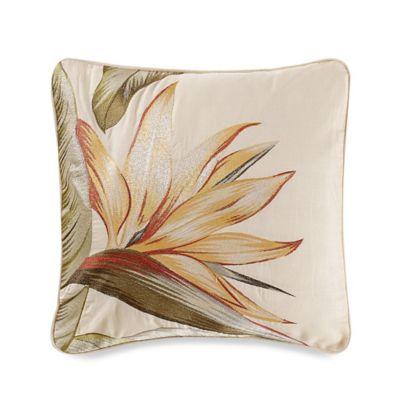 Birds of Paradise Square Throw Pillow
