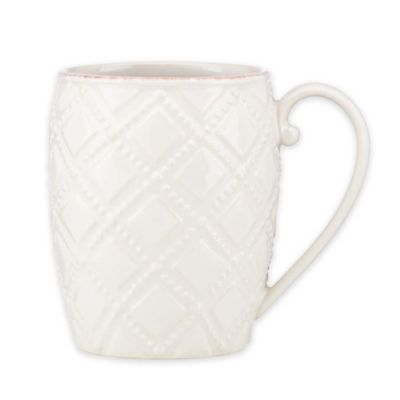 Lenox® French Perle Trellis Mug in White