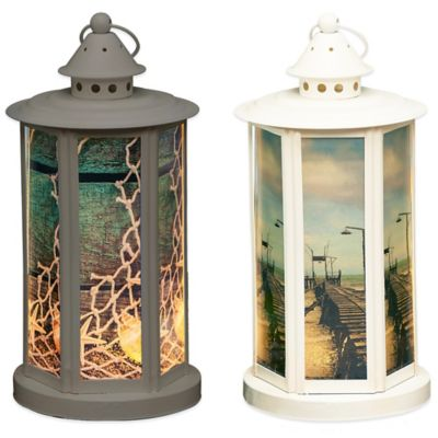 Decorative LED Lantern in White