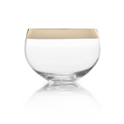 Clear Gold Bowl