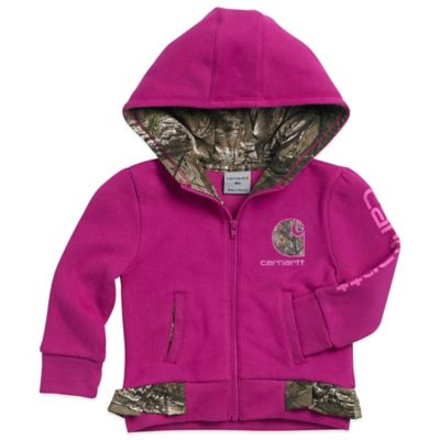 Carhartt® Realtree Xtra® Size 3M Hooded Fleece Jacket in Pink/Camo