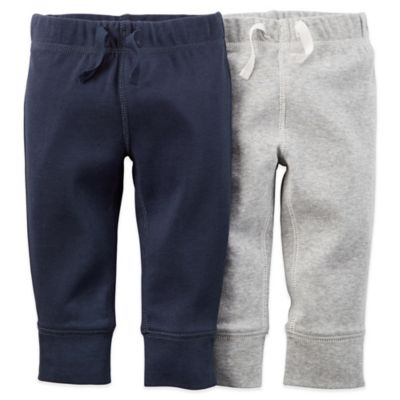 Carter's® Newborn 2-Pack Cuffed Pant in in Navy/Grey