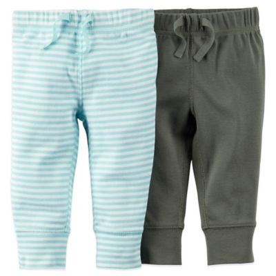 Carter's® Size 3M 2-Pack Cuffed Pant in in Light Blue/Grey