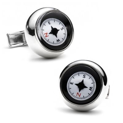 Sterling Silver Ravi Ratan Compass Cufflinks