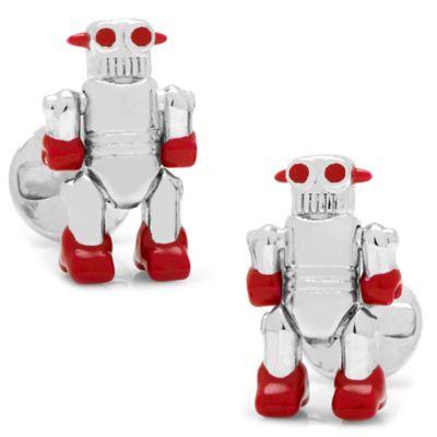 Silver Moving Robot Cufflinks