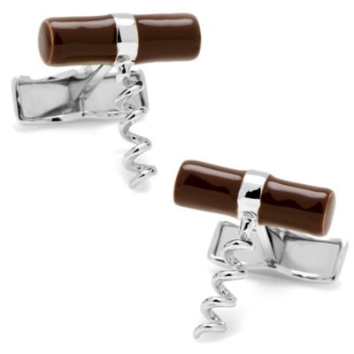 Sterling Silver Corkscrew Cufflinks