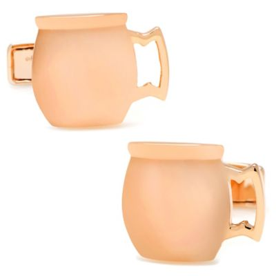 Sterling Silver and Rose Gold-Plated Moscow Mule Mug Cufflinks