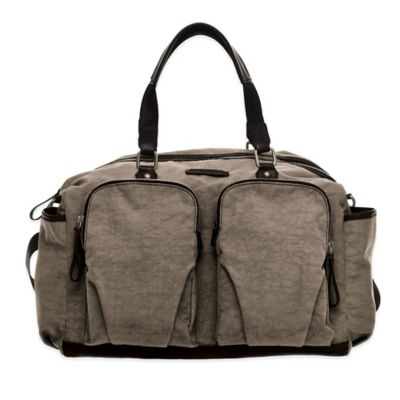 TWELVElittle Unisex Courage Satchel Diaper Bag in Grey