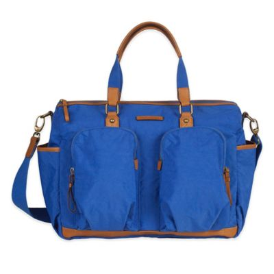 TWELVElittle Unisex Courage Satchel Diaper Bag in Sapphire