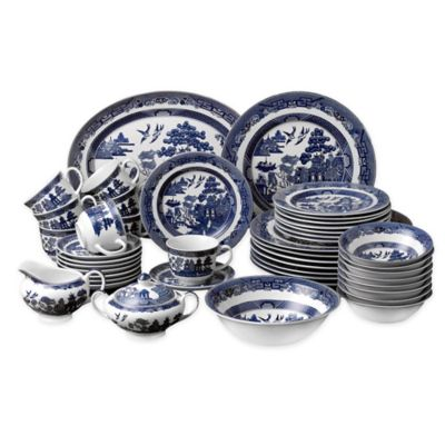 Johnson Brothers Willow Blue 45-Piece Dinnerware Set