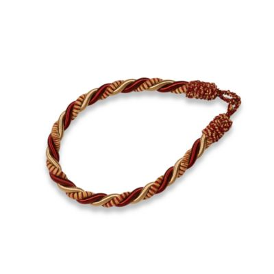 Chenille Rope Window Tie Back in Red/Gold
