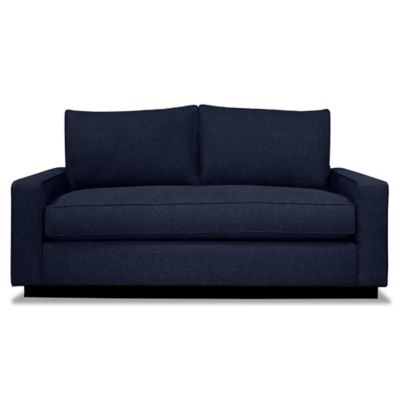 Kyle Schuneman for Apt2B Harper Mini Apartment Sofa with Black Base in Bisque