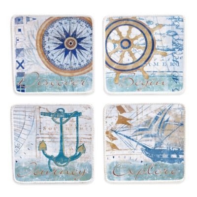 Certified International Mariner Dessert Plate (Set of 4)