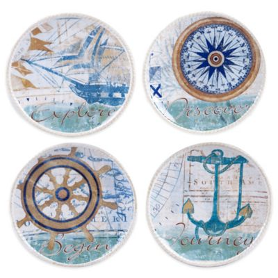 Certified International Mariner Canape Plate Set (Set of 4)