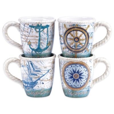 Certified International Mariner Mugs (Set of 4)